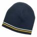 Double Stripe Acrylic Beanie 268466 ## NavyWhiteGold
