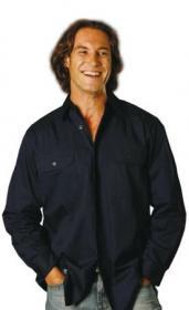 Cool-Breeze Cotton Long Sleeve Work Shirt Size: S