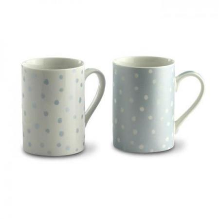2 mugs set w/ metallic finish