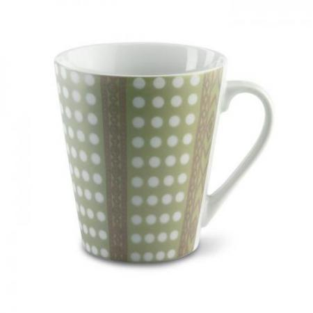 Mug with metallic finish and dot pattern