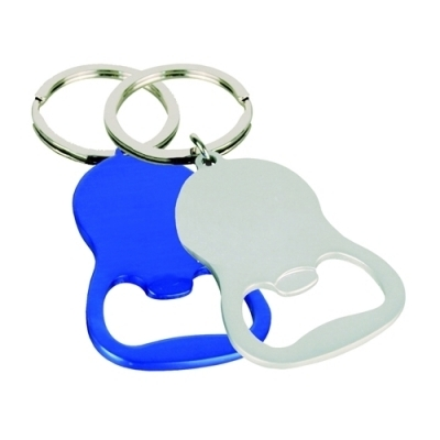 Cheers Round Bottle Opener Key Ring