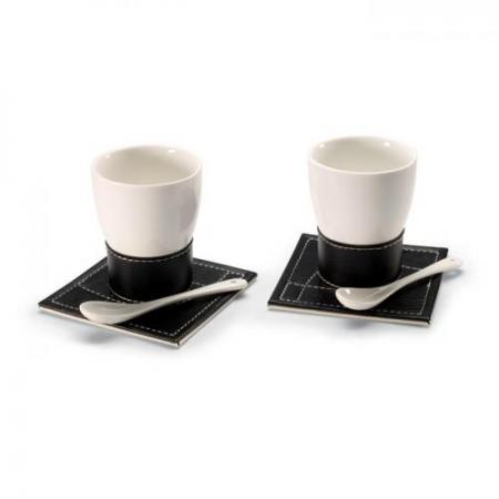 Ceramic coffee mug set for 2