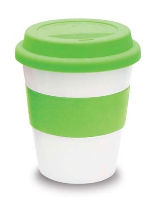 White Ceramic Takeaway Cup