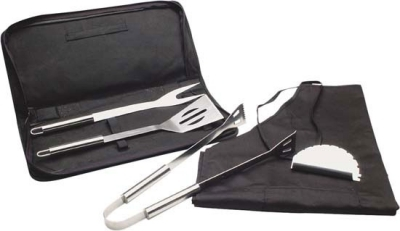 BBQ Tool and Apron Set