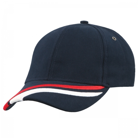 6 Panel HBC Cap 2 Stripes