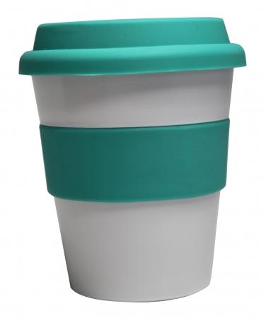 Grab N Go Coffee Cup-whiteaqua