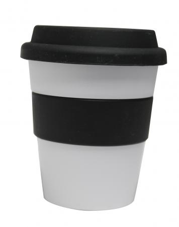 Grab N Go Coffee Cup-whiteblack