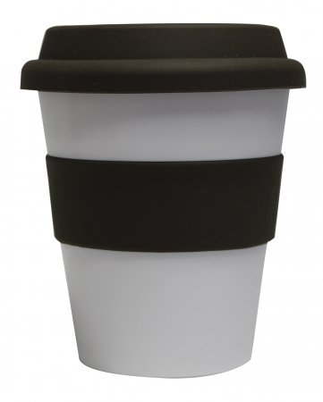 Grab N Go Coffee Cup-whitebrown