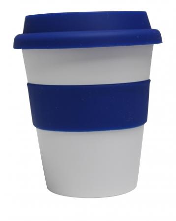 Grab N Go Coffee Cup-whitedarkblue
