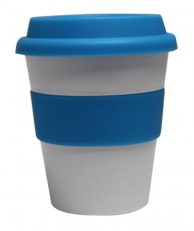 Grab N Go Coffee Cup Large 16oz-16oz whiteblue