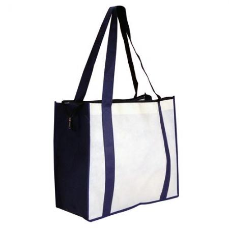 NON WOVEN LARGE ZIPPED SHOPPING BAG