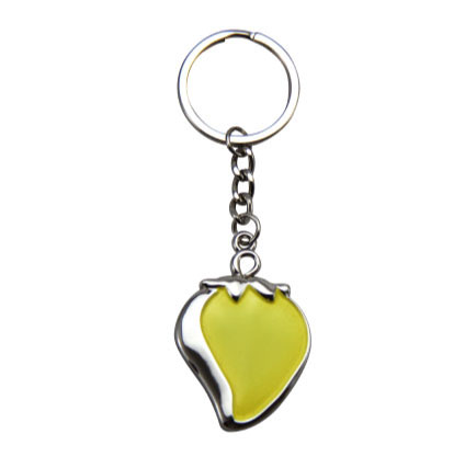 Yellow Strawberry Custom Keyring