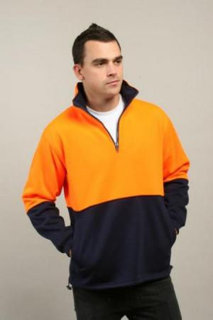 HI VI POLAR FLEECE HALF ZIP