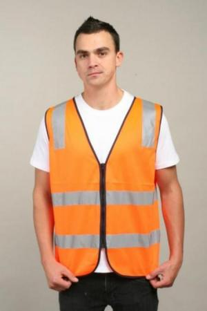 HI VI VEST WITH REFLECTIVE TAPE