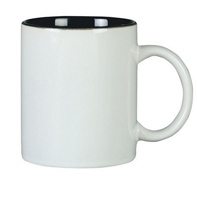 Colonial Coffee Mug Two Tone White/Black