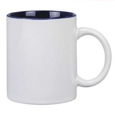 Colonial Coffee Mug Two Tone White/Cobal
