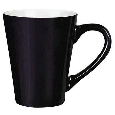 Havana Black/White Coffee Mug Matte