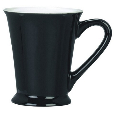 Verona Black/White Coffee Mug