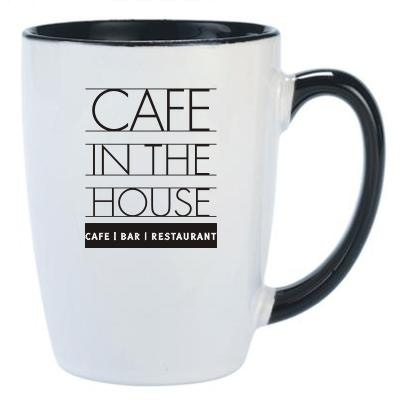 Carnivale White/Black Coffee Mug