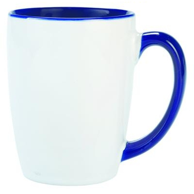Carnivale White/Cobalt Coffee Mug