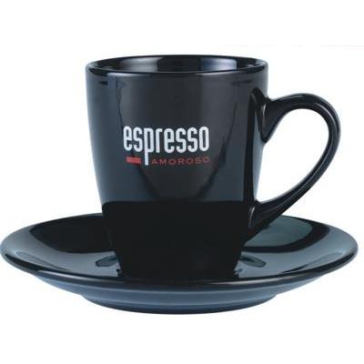 Espresso Cup & Saucer Black