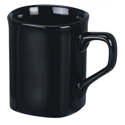 Square Black Coffee Mug