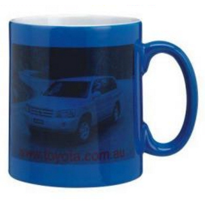 Wow Coffee Mug Blue/White Photo Finish
