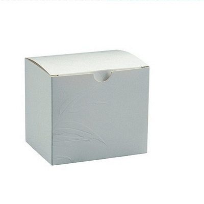 Embossed Leaf Box 1 Pack White
