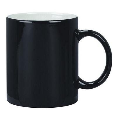 Colonial Coffee Mug Two Tone Black/White