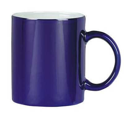 Colonial Coffee Mug Two Tone Cobalt/Whit