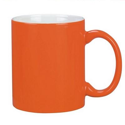 Colonial Coffee Mug Two Tone Orange/Whit