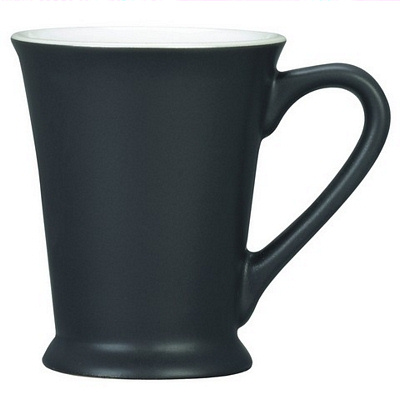 Verona Black/White Coffee Mug Matte