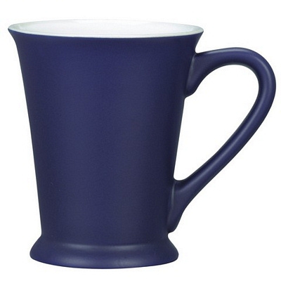 Verona Cobalt/White Coffee Mug Matte