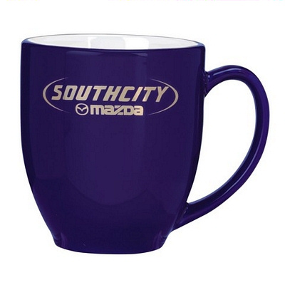 Broadway Cobalt White Coffee Mug