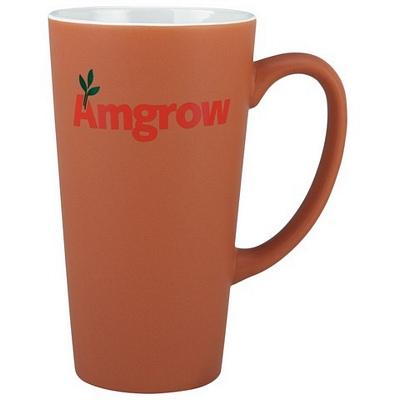Everest Terracotta/White Coffee Mug Matt