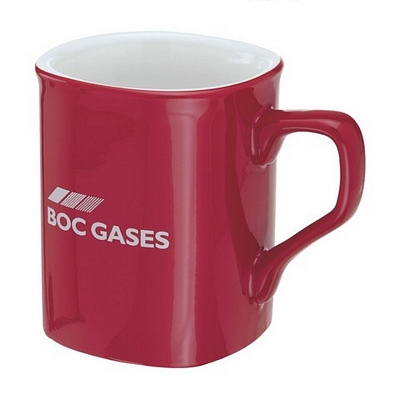 Square Red/White Coffee Mug