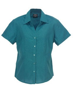 Ladies Plain BIZCOMFORTCOOL Oasis Short Sleeve Shi