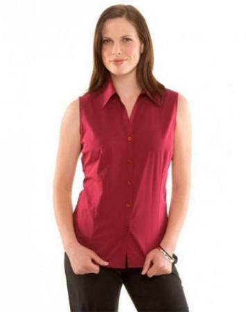 Ladies Sleeveless Metro Stretch Shirt