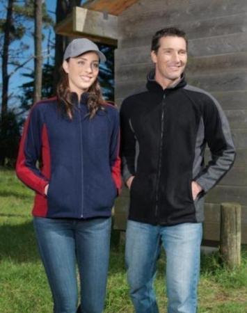 Mens Contrast Panel Poly Fleece Jacket