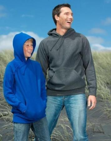 Adults Raglan Hooded Fleecy Top