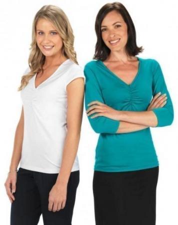 Ladies 3/4  Sleeve Silky Top
