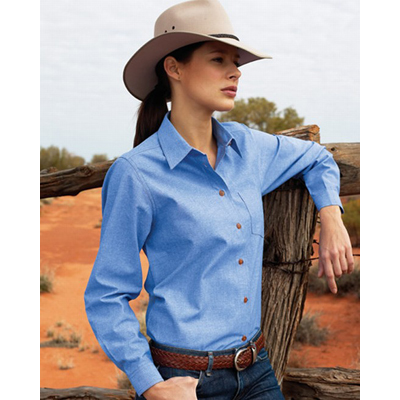 Corporate Workwear Ladies Chambray shirt