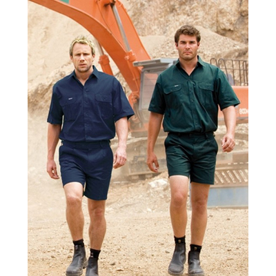 Workwear Hi-Vis Cotton Workshirts Short