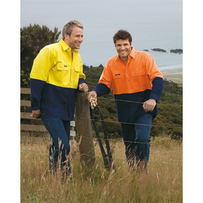 Workwear Hi-Vis Cotton Flanny