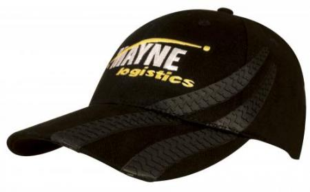 Brushed Heavy Cotton Cap With PVC Tyre Track