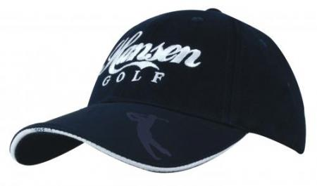 Brushed Heavy Cotton Cap With Embossed Golfer Icon