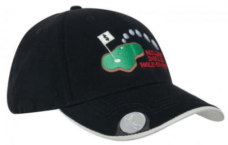 Brushed Heavy Cotton Golf Cap With Magnetic Ball M