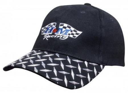 Brushed Heavy Cotton Cap With Checker Plates On Pe