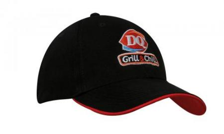 6 Panel 100% Recycled Eco Cap With Duckbill Sandwi
