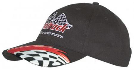 Brushed Heavy Cotton Cap With Swoosh/Checks Embroi